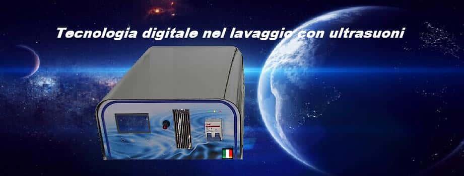 Lavaggio a ultrasuoni con tecnologia digitale
